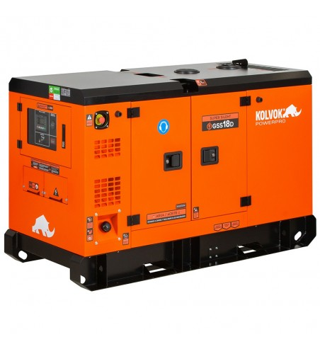 Generador eléctrico insonorizado monofásico diésel GSS18D - 17kVA - Kolvok