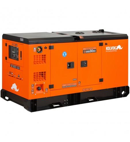 Generador eléctrico insonorizado trifásico diésel GSS30D3 - 33kVA - Kolvok